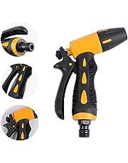 Pistola de Riego Pistola de Spray con Boquilla 5 ajustable Modos,Rociador De Mano De Alta Presión Pistola de Agua de Jardín,para regar Césped, Lavado de Autos, Baño de Mascotas