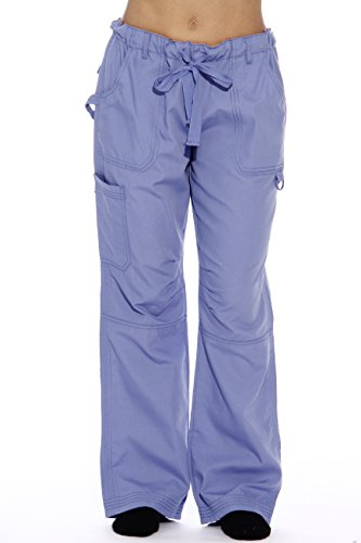 (24000PCEI-26-1X Just Love Women's Utility Scrub Pants / Scrubs, Ceil Utility With Chevron, 1X)