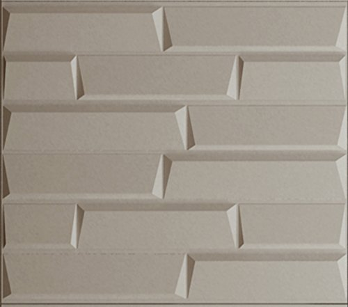 Upscale Designs 02111 16 sq. ft. 3D Glue-On Wall/Ceiling/...