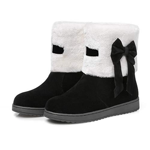 Women's Winter Snow Boots Woman Platform Ankle Boot Red Warm Cotton Down Women's Winter Snow Boots,Black,5