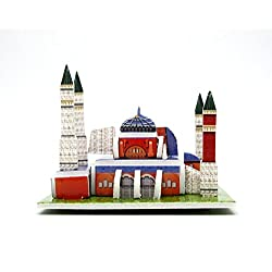 Mini 3D Puzzles Architecture Hagia Sophia Easy for Baby 3 Years and more Mini Size 2.5 x 2.3