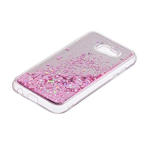 Glitter Líquido Morado 2017 Brillar Para Samsung Brillante Cristal Thrion Galaxy Funda A5 Rosa Sparkle E5WSqncWay