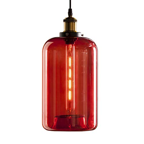Pendant Light Red Glass in US - 7
