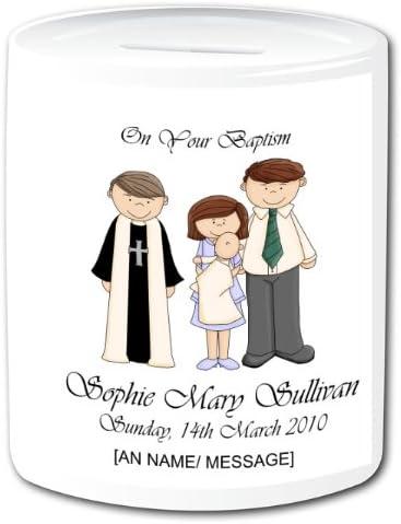 Personnalisé Baptêmecadeau De Baptême Tirelire En Céramique
