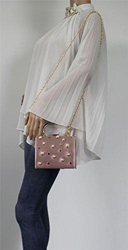 Pink Box Clutch Pearl Satin Vintage Womens Briar Bag Stud SWANKYSWANS AUzXqXw