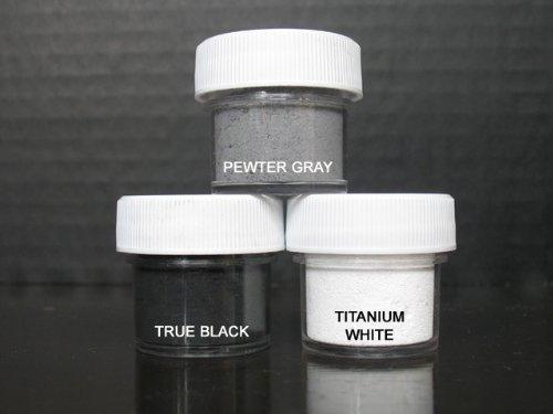Petal Dust Set of 3 Pewter Gray / True Black / Titanium White (Flower Dust)