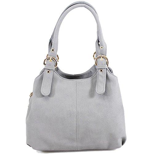 Handbag Ladies Bag Womens Shoulder Light Tote Work Designer Office UK New Grey rFXn0Ft