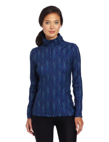 Merrell WomenLauley Full Zip Top, s Blue Depth Print