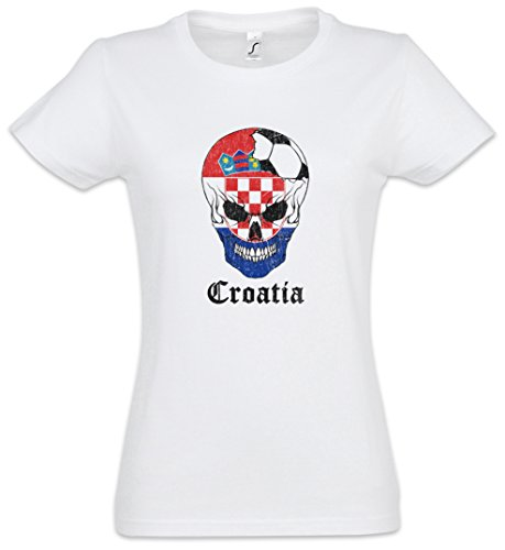 Skull – Mujer Urban Women T 2xl Tamaños shirt I Croatia Girlie Backwoods Football Xs qwtRSU