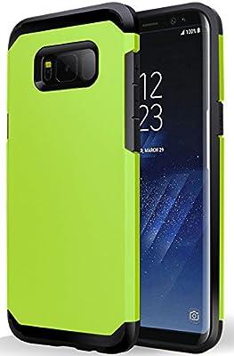 EZZYMOB® - Carcasa para Samsung Galaxy S8 y S8 Plus, híbrida, resistente, de doble capa, a prueba de impactos, de goma TPU y policarbonato