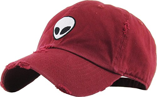 KBSV-042 BUR Alien Vintage Dad Hat Baseball Cap Polo Style Adjustable