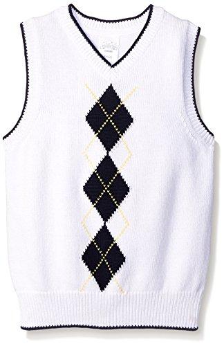 White Argyle Sweater Vest - 6