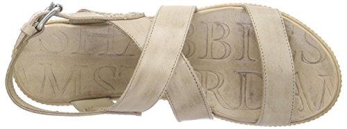 Shabbies Amsterdam Premium Italian Made Flat Sandalet Leather Sole Pendula - Sandalias Mujer Marrón - marrón (taupe)