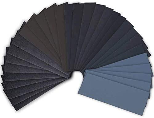 "Wet Dry Sandpaper 15 Sheets 5.5/"" x 9/"" 3000Grit"