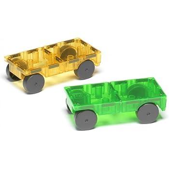 Magna-Tiles 16022 Cars 2 Piece Expansion Set