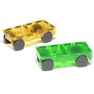 Amazon Com Magna Tiles 16022 Cars 2 Piece Expansion Set