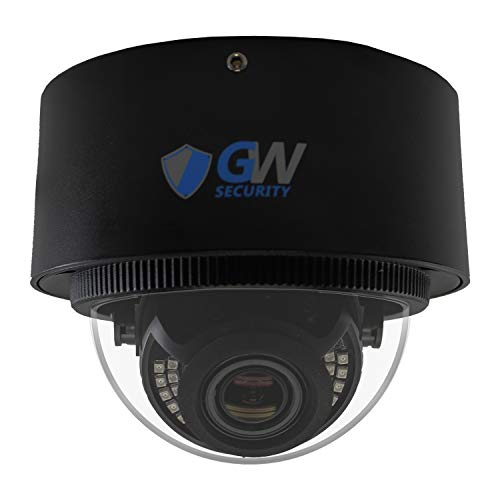 GW Security UltraHD 4K (8MP) Outdoor Indoor Dome POE IP Camera, 3840×2160, 100ft Night Vision, 2.8-12mm Varifocal Zoom Lens, IP66 Weatherproof, Support MicroSD Recording (up to 128GB)