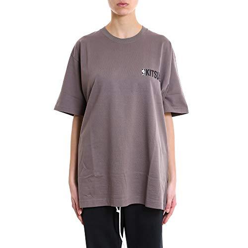 T Spnbm701grey Gris shirt Algodon Kitsuné Maison Mujer Xq8x0