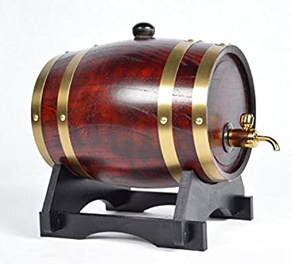 Dispensador de vino de barril de madera de pino rojo , 5