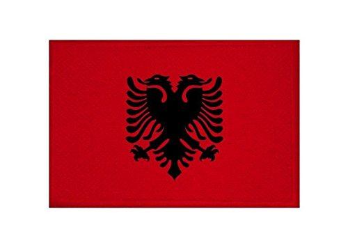 U24toppa Albania Bandiera applicazione Patch 9x 6cm