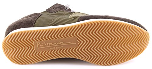Zapatos Sneakers Hombre PHILIPPE MODEL Tropez LU World Green Sage Italy New