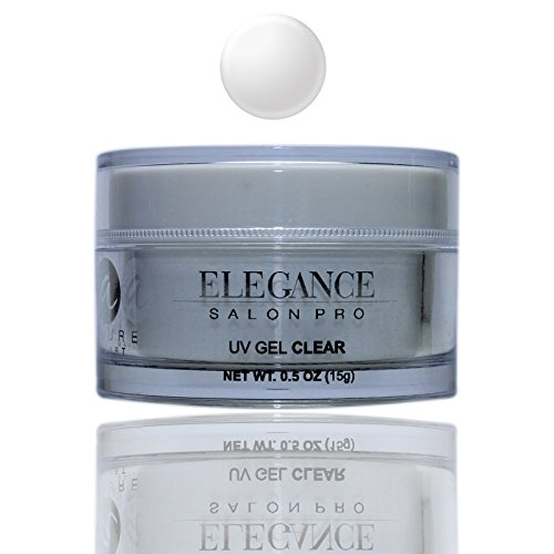 Elegance Salon Pro UV Gel Clear 0.5oz  One Phase Professiona