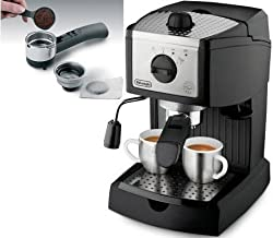DeLonghi EC155 Espresso Maker 220-240 Volt/50-60 Hz INTERNATIONAL VOLTAGE & PLUG FOR OVERSEAS USE ONLY, WILL NOT WORK IN THE US, OUR PRODUCT ARE BRAND NEW, WE DO NOT SELL USED OR REFURBISHED PRODUCT by DeLonghi