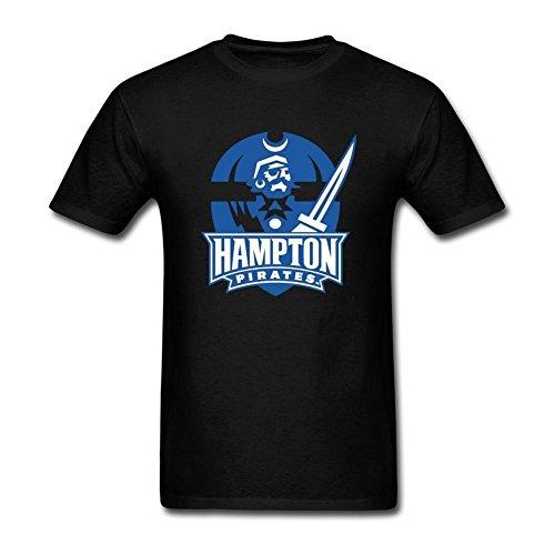 XIULUAN Men's Hampton University Seal Logo T-shirt Size XXXL ColorName (Logo Ride Beanie)