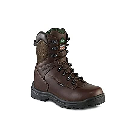 Red Wing 3547 Brown Leather Safety Boots UK7 Toe Cap Waterproof Insulated Work