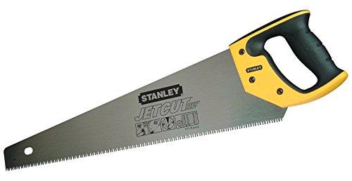 Stanley JetCut Handsäge fein, 450mm Länge, 11 Zähne/Inch, Bi-Material, Hardpoint-Verzahnung, 45°/90°-Anschlag, 2-15-595