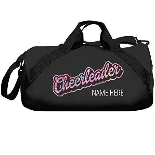 Glitter Cheerleader Custom Duffle Bag: Barrel Duffel Bag]()