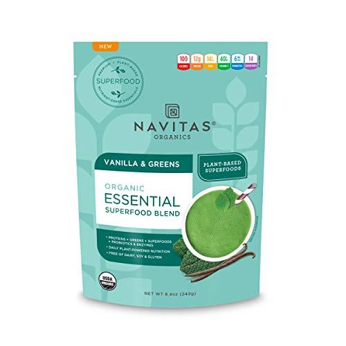(Navitas Organics Superfood Smoothie Blend, Vanilla & Greens, 8.4oz. Pouch)
