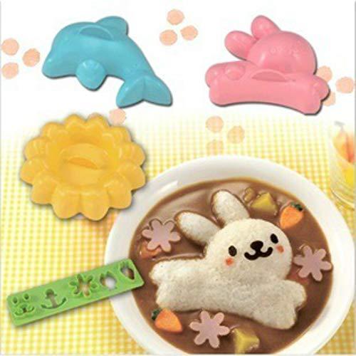 KathShop 4 pcs/set Curry Rice Mold Japanese Style DIY s Bento Tool Rabbit Dolphin Sushi Maker Onigiri Sandwich Cake Punch Mould