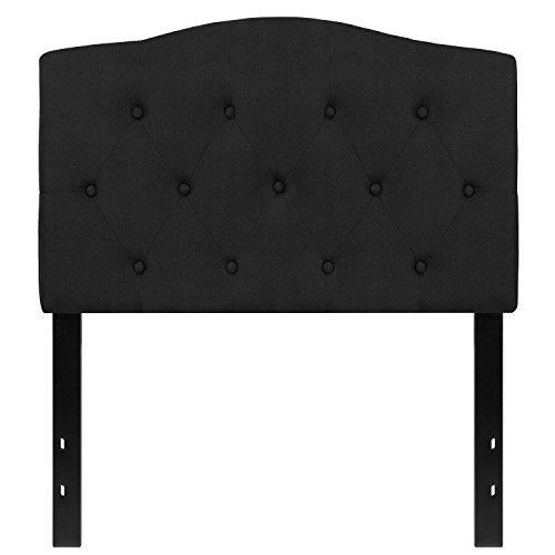Flash Furniture Cambridge Tufted Upholstered Twin Size Headboard in Black Fabric (Black Twin Headboard)