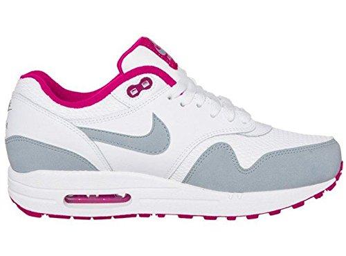 bwwql Nike Air Max 1 Essential White Grey Pink Leather Womens Trainer