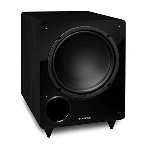Fluance DB10 10-inch Low Frequency Powered Subwoofer for Home Theater (Black) by Fluance