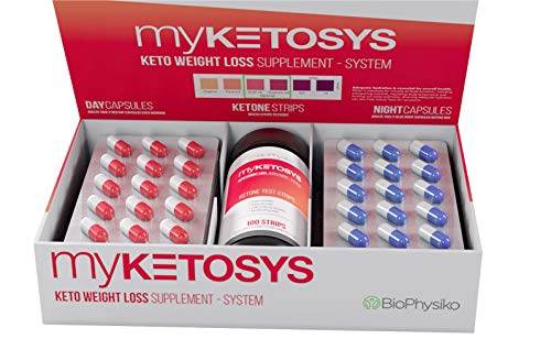 MYKETOSYS 2019 Best Keto Weight Loss Pills for Women & Men. The Only Day & Night Formula Keto Fat Burner Pills Plus Ketone Strips. A Complete Keto Supplement for Ketosis with GoBHB Exogenous Ketones (2019 Best Fat Burner)