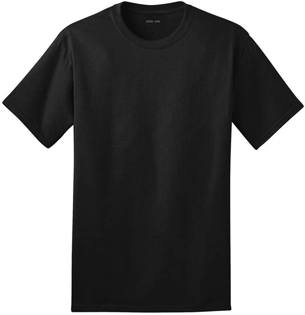 Joe's USA -100% Ring Spun Soft Cotton T-Shirts in Adult Sizes: S-4XL