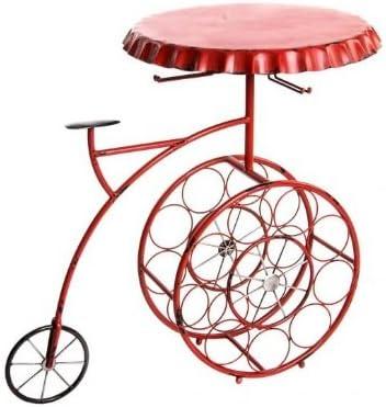 Angulo Interiores Mesa Auxiliar diseño Bicicleta con botellero ...
