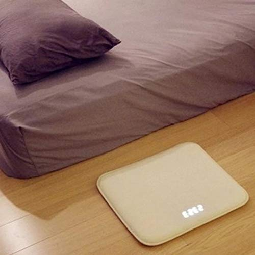 HEGUANGWEI Pressure Sensitive Alarm Clock Carpet Electronic Digital Clock Bedroom Anti-Slip Wear-Resisting Soft Mat Smart Wake Up Novelty Creative Decoration