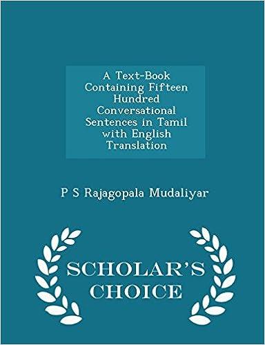 Tamil To English Translation Book