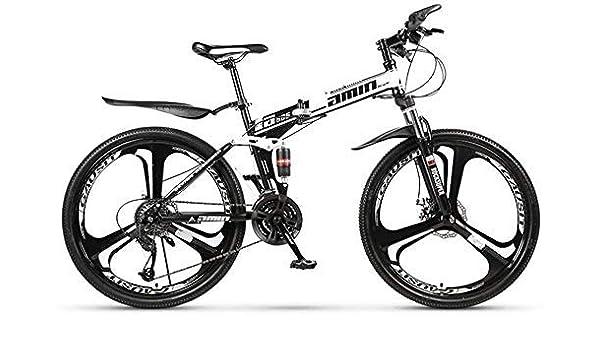 YUHT Bicicleta de montaña, Bicicleta Plegable Bicicleta de Doble ...