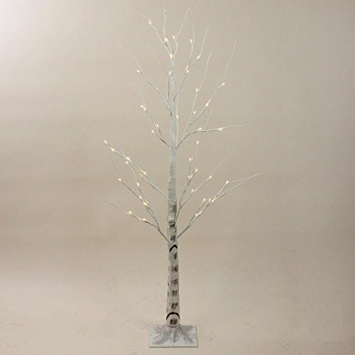 Northlight 4'' Pre-Lit Warm White LED Lighted Christmas Twig White Birch Tree Outdoor Decoration by Northlight