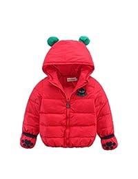 Janeyer Children Kids Winter Cute Animal Ears Hooded Down Jacket Warm Coat