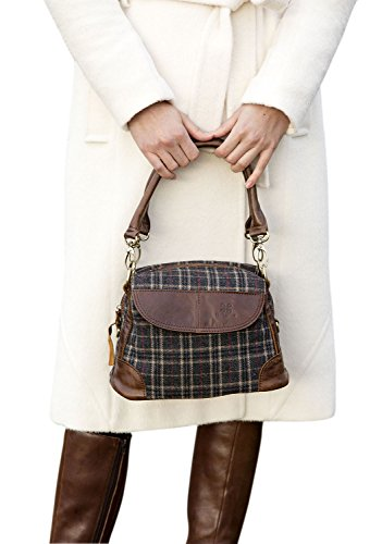 ladies-irish-leather-and-canvas-double-strap-bag