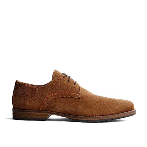 Travelin Manchester Suede Business Schuhe Herren | Schnürhalbschuhe | Freizeitschuhe | Hochzeitschuhe | Anzugschuhe | Derby Lederschuhe Braun 48 EU