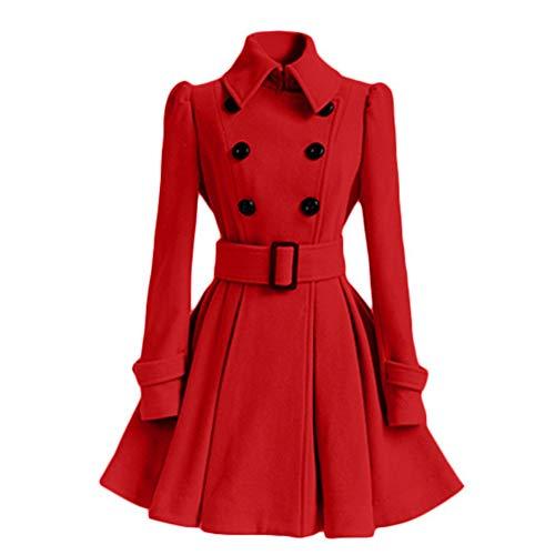 Da brown xl Confortevole E Red Invernale Abito Donna Pengpengran Caldo Bq5w50