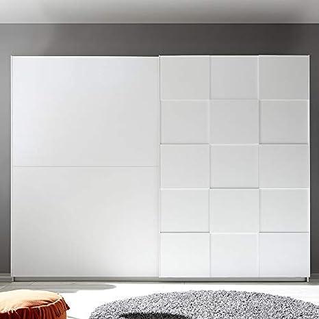 Noveomeuble - Armario 275 cm, diseño blanco lacado