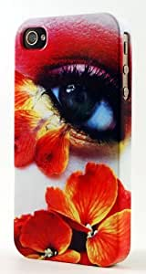 Flowery Eye Dimensional Case Fits iPhone 4 or iPhone 4s