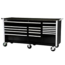 SPG International 15 Drawer Tool Cabinet and Tool Chest Combo (Black)